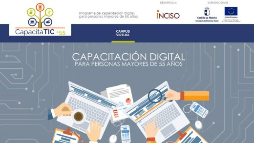 Plataforma virtual programa CapacitaTIC+55